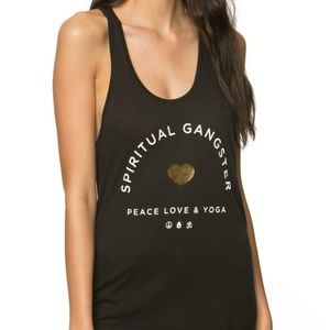 Spiritual Gangster Peace Love & Yoga Tank Size: M